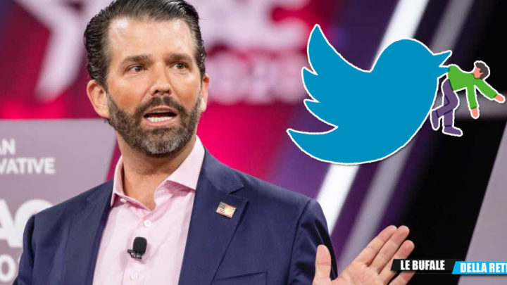 "Twitter blocca Donald Trump Jr . ""Fake news sul Covid"""